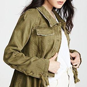 NWOT FP Willow Denim Military Jacket